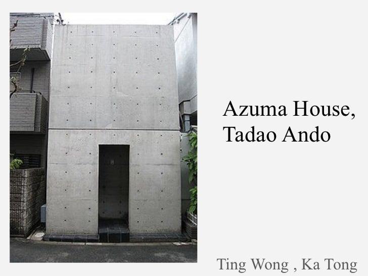 Azuma house by tadao ando 1 for Row house dimensions