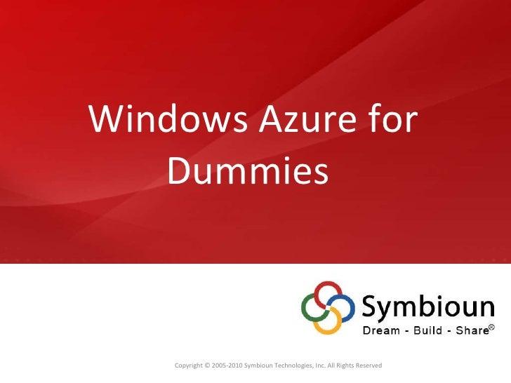 Windows Azure for Dummies