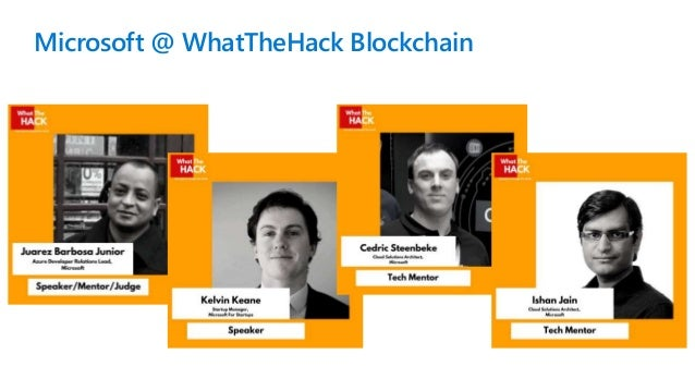 WhatTheHack - Blockchain and The World Food Supply