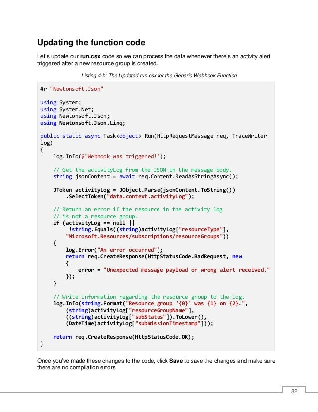83 Let's analyze this code. The first thing that happens is the function reads the Content property as a string, received ...