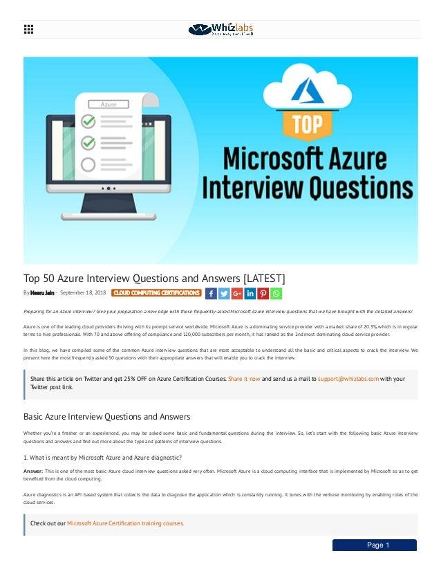Azure Interview Questions Pdf
