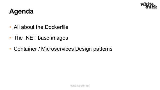 Azure Saturday Hamburg: Containerize Your .NET Microservice - the Right Way! Slide 3