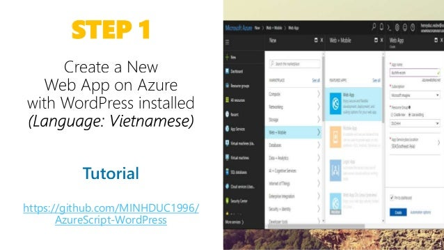 MSPVN - Azure Workshop] Day 2 - Azure Web App and WooCommerce for On…