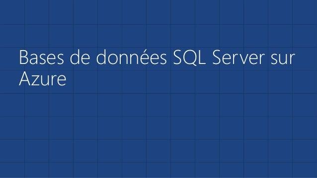 Bases de données SQL Server sur  Azure