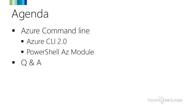 Azure at the command line