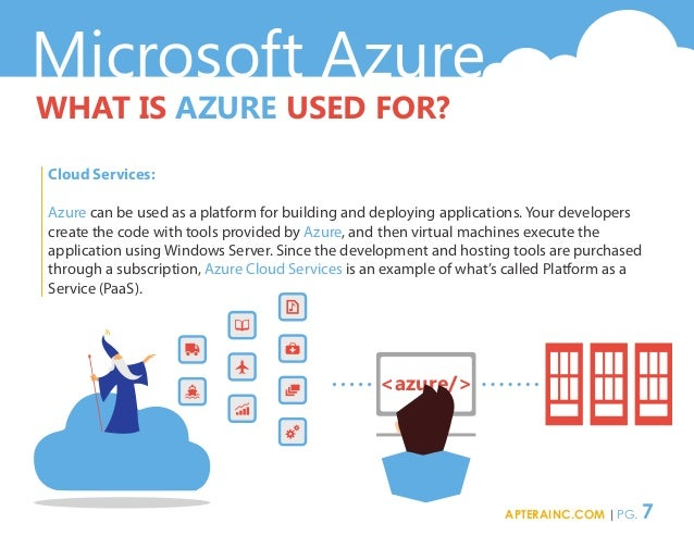 Microsoft Azure WHAT IS AZURE USED FOR? Cloud Services: Azure can be used as a platform for building and deploying applica...