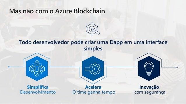Todo desenvolvedor pode criar uma Dapp em uma interface simples Mas não com o Azure Blockchain Simplifica Desenvolvimento ...