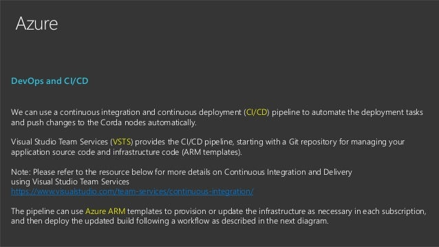 Azure DevOps and CI/CD We can use a continuous integration and continuous deployment (CI/CD) pipeline to automate the depl...