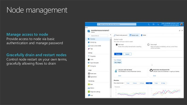 Node management Manage access to node Provide access to node via basic authentication and manage password Gracefully drain...