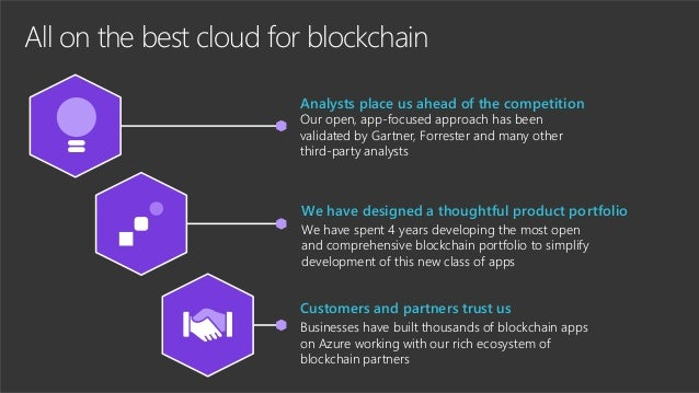 All on the best cloud for blockchain Analysts place us ahead of the competition Our open, app-focused approach has been va...