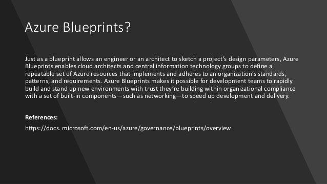Introduction to Azure Blueprints Slide 2
