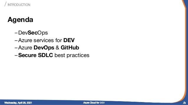 ".NET Online TechTalk ""Azure Cloud for DEV"" Slide 3"