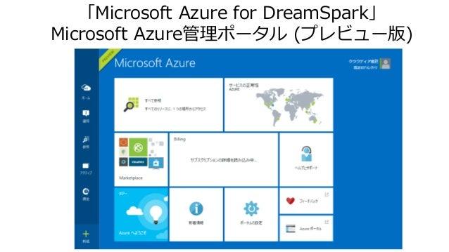 「Microsoft Azure for DreamSpark」 Microsoft Azure管理ポータル (プレビュー版)