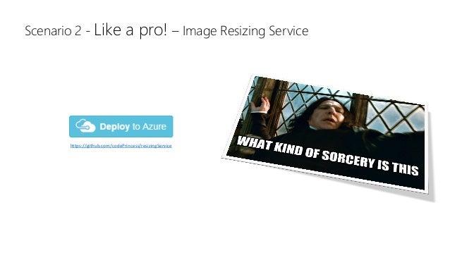 https://github.com/codePrincess/resizingService Scenario 2 - Like a pro! – Image Resizing Service