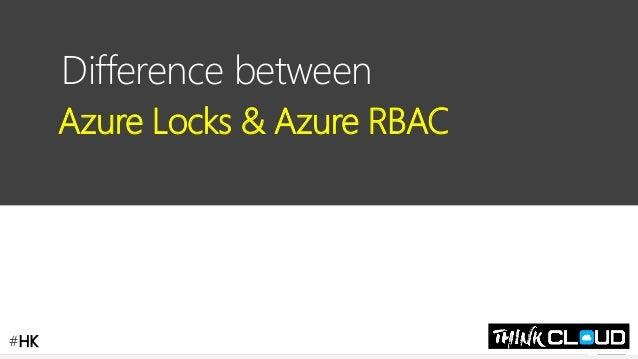 Contoso Ltd. Difference between Azure Locks & Azure RBAC #HK