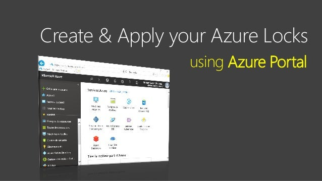 Contoso Ltd. Create & Apply your Azure Locks using Azure Portal