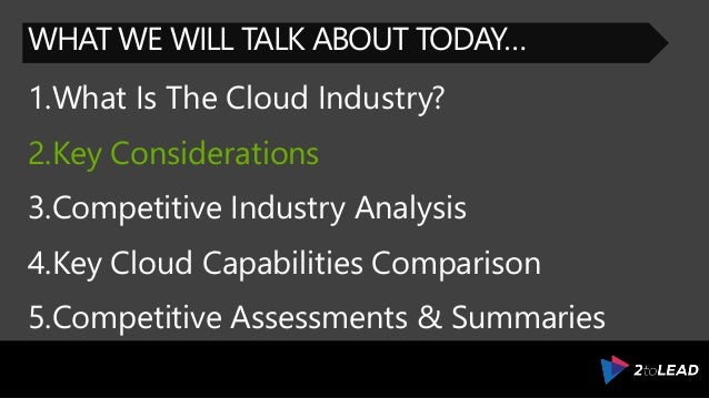 Microsoft Azure and the Competitive Public Cloud Industry What You N – Microsoft Competitive Analysis