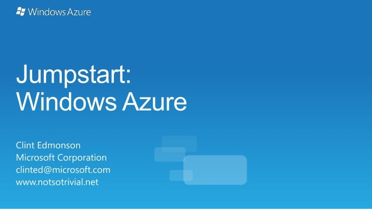 Windows Azure Platform(on-premise) Client Layer                                                           http://aka.ms/Tr...
