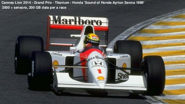 Big Data is not just data Cannes Lion 2014 - Grand Prix - Titanium : Honda 'Sound of Honda Ayrton Senna 1989' 2000 + senso...