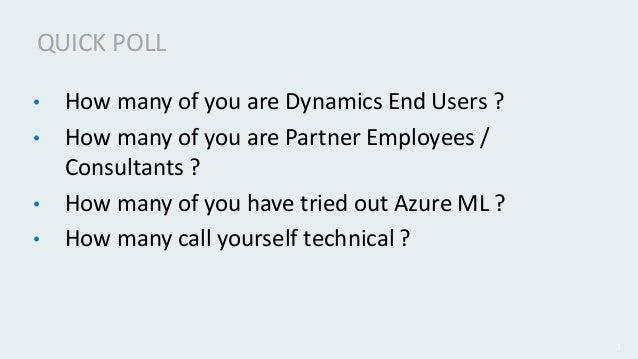 Azure ml and dynamics 365 Slide 3