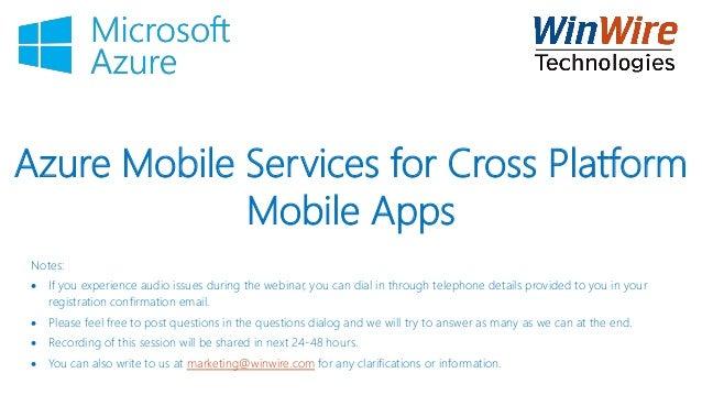 Azure Mobile Services for Cross Platform Mobile Apps