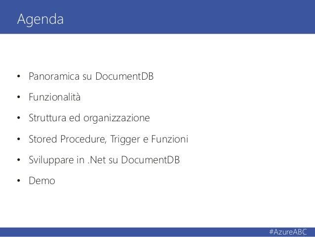 Azure No-Sql approach: DocumentDB Slide 3
