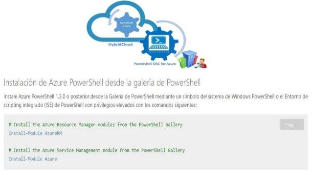 Administracion y Despliegue a traves PowerShell Azure