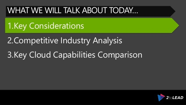 Evaluate Microsoft Azure For The Competitive Public Cloud Industry – Microsoft Competitive Analysis