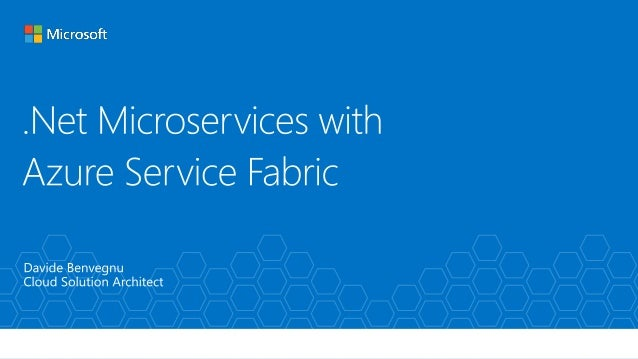 Agenda • Microservices? • Service Fabric? • Microservices in Service Fabric? Demo code on GitHub: https://github.com/n3wt0...