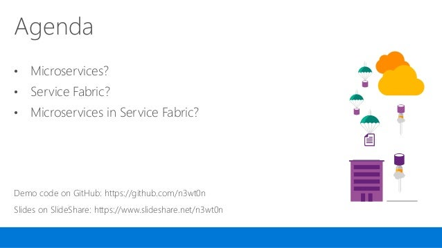 .NET microservices with Azure Service Fabric Slide 3