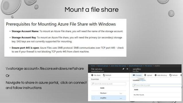 Azure storage deep dive