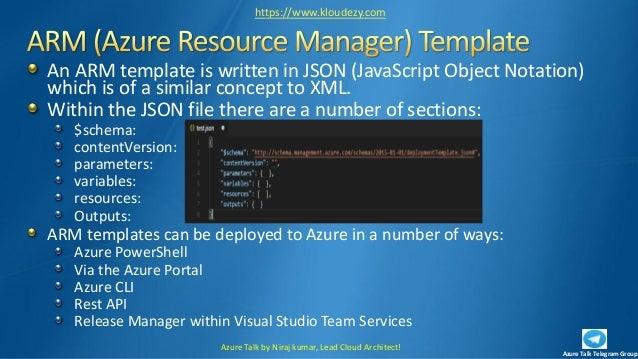 Azure talk DevOps session 2 - IaC (infrastructure as code) 1