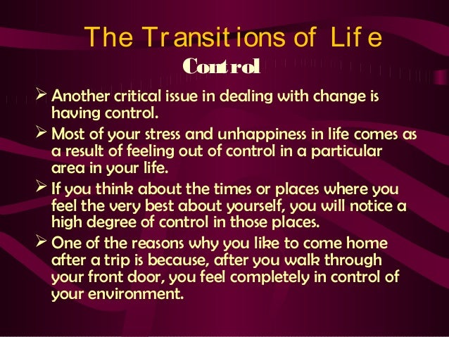 Life transitions counseling essay