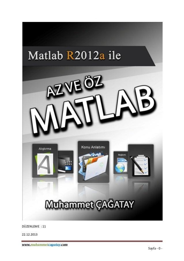 www.muhammetcagatay.com Sayfa - 0 - DÜZENLEME : 11 22.12.2013