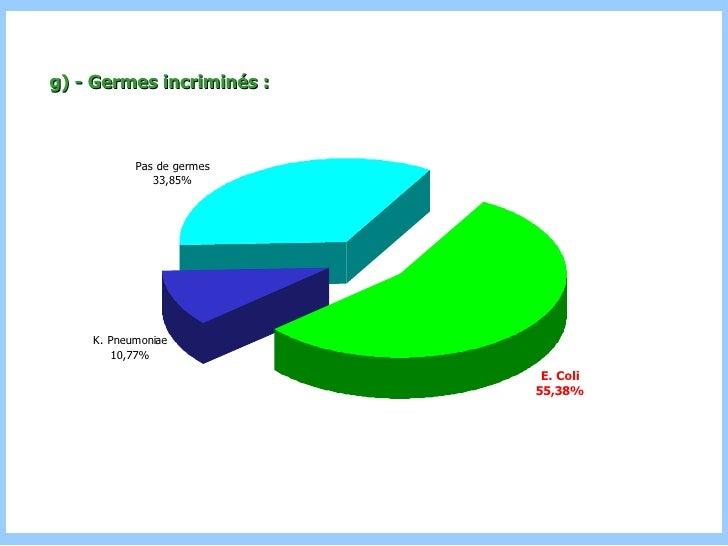 g) - Germes incriminés :