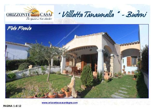 """""""  Villletta Tanaunella """" - Budoni  Foto Fronte  www.orizzontecasasardegna.com  PAGINA 1 di 12"""