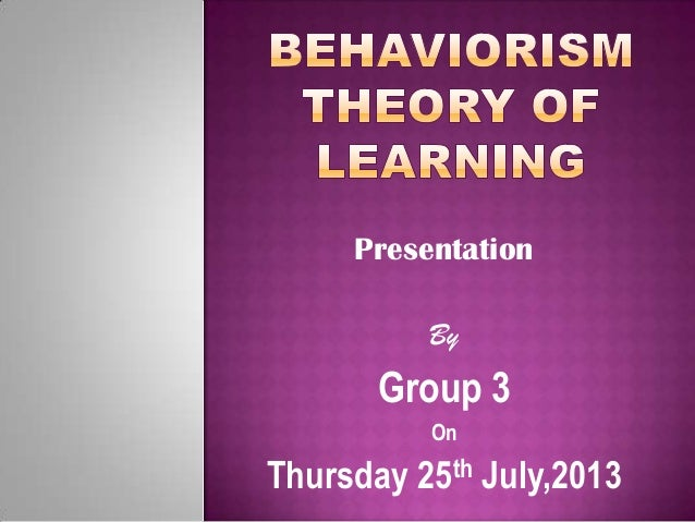 Presentation By Group 3 On Thursday 25th July,2013
