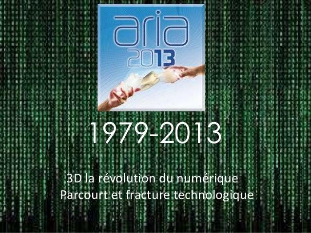 1979-2013 3D la révolution du numérique Parcourt et fracture technologique