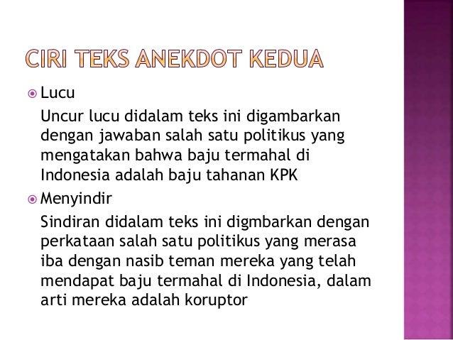 PPT Bahasa Indonesia - Mengenal Teks Anekdot - Kelas X SMA
