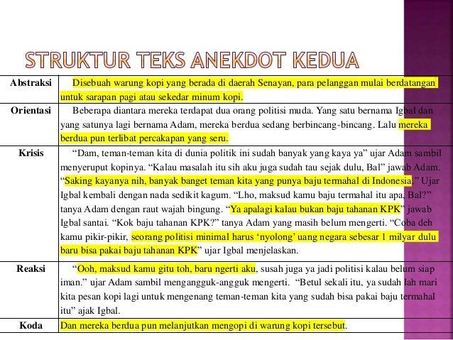 Ppt Bahasa Indonesia Mengenal Teks Anekdot Kelas X Sma