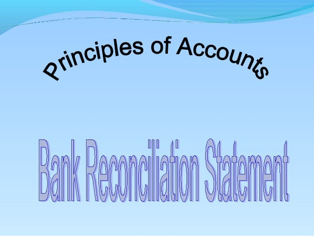 Contents  Reporting cash in the balance sheet  Definition of BRS  The purpose of the BRS  Nature of the cash book and ...