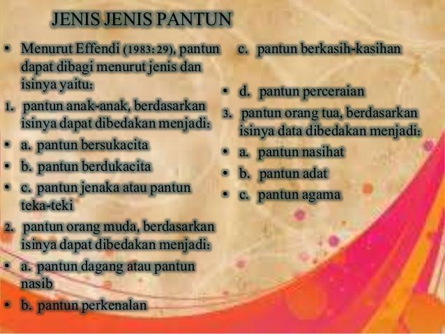 B.indonesia karya sastra(syair,pantun,gurindam)