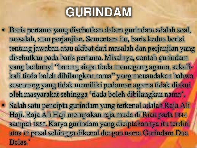 Contoh Gurindam Tentang Agama Feed News Indonesia