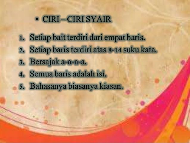 B Indonesia Karya Sastra Syair Pantun Gurindam