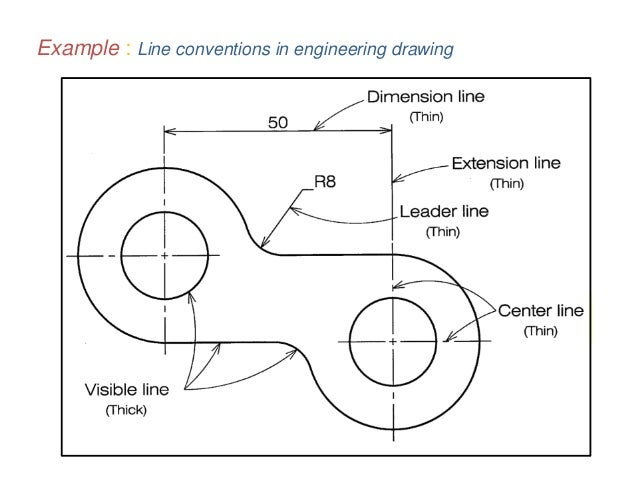 Drawing Lines Engineering : B tech i eg u basics of engineering graphics