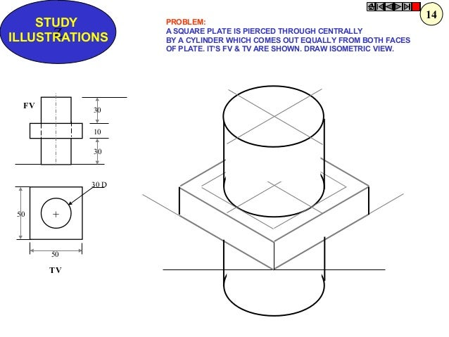 how to draw isometric view of cylinder