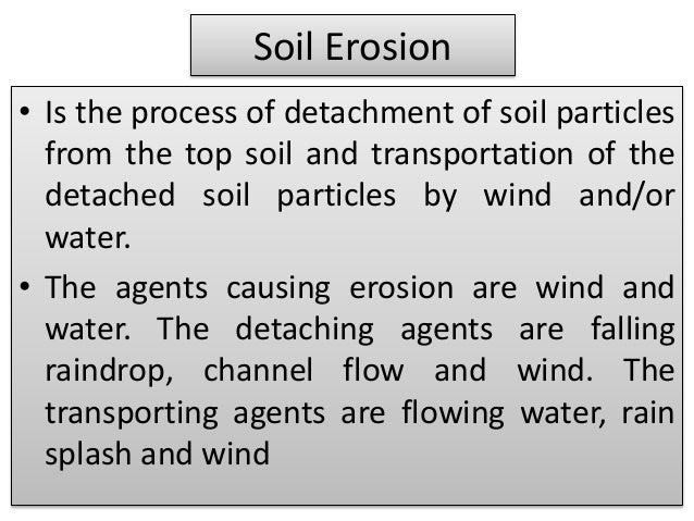 short paragraph on soil erosion