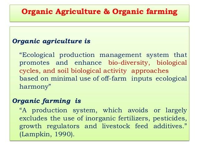 B sc agri i paam unit 3 organic farming