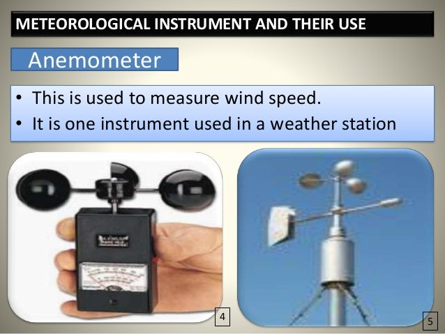 Used Measuring Instruments : Instrument used for measuring wind speed driverlayer
