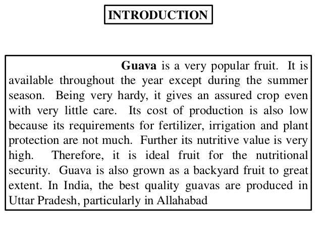 introduction of guava
